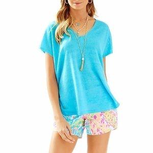 Lilly Pulitzer Sanford Sweater Blue SZ L/XL